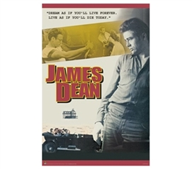 Inspirational Decor Idea Of James Dean - Dream as if Poster