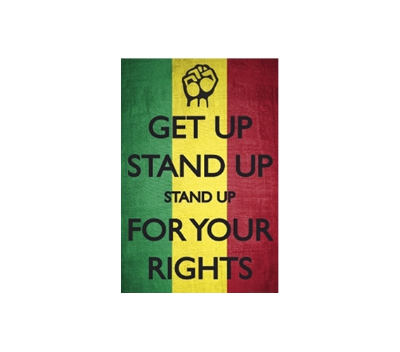 Cheap Dorm Wall Poster Bob Marley Stand Up For Your