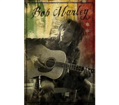 Posters Are Dorm Must-Haves - Bob Marley Guitar Rasta Poster - Great For Music Fans