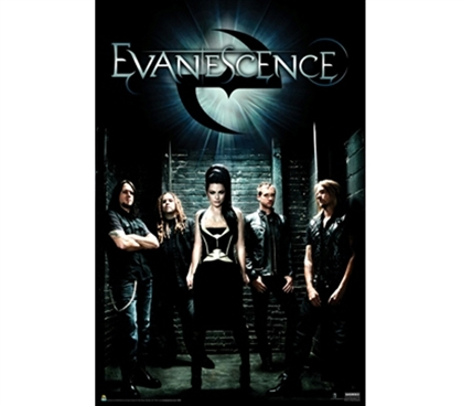 Cool Dorm Poster of Evanescence Band - Group Shot Wall Poster of All Band Members