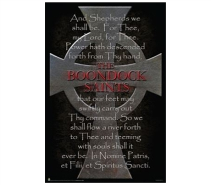 Decorate Your Dorm - Boondock Saints Cross Poster - Movie Posters For College