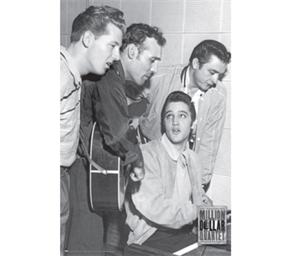 Million Dollar Quartet - Elvis, Jerry Lee Lewis, Carl Perkins & Johnny Cash Poster