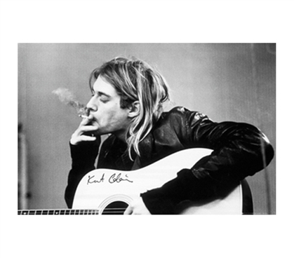 Kurt Cobain Smoking Poster Nirvana Posters Dorm Room Items Cool College Supplies Dorm Room Decorations