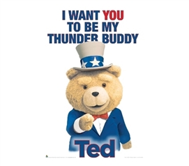 Decorations For Dorms - Ted - Buddy Poster - Funny Poster For Dorms