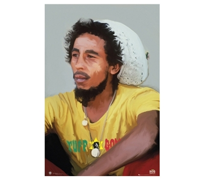 Colorful Dorm Decor Painting of Bob Marley- Dorm Wall Poster