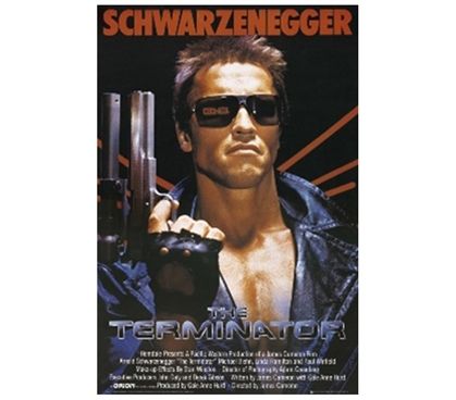 Machine Portrait of The Terminator - Score Poster