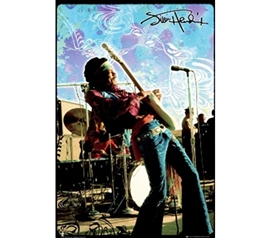 Rocking Jimi Hendrix - Live On Stage - Perfect Poster Idea