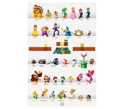 Great Dorm Wall Decor - NINTENDO Characters Poster - Iconic Nintendo Characters