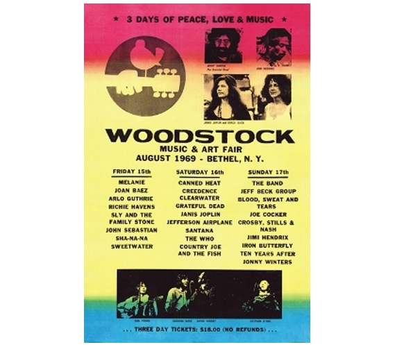 Woodstock Lineup Poster Posters For Cheap Dorm Supplies