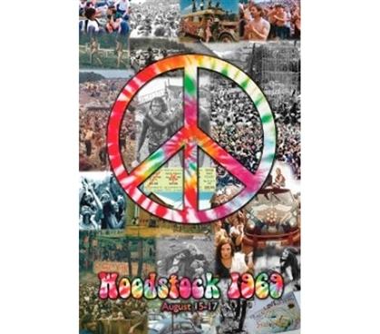 Music Posters For Cheap - Woodstock Collage Poster - Great Dorm Item