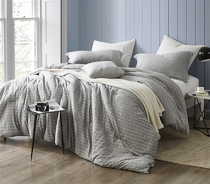 Easy to Match College Dorm Decor Highlands Gray Extra Long Twin Bedding Comforter