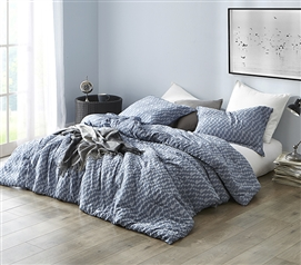High Quality College Comforter Unique Navy Slate Design True Twin XL Sized Dorm Bedding