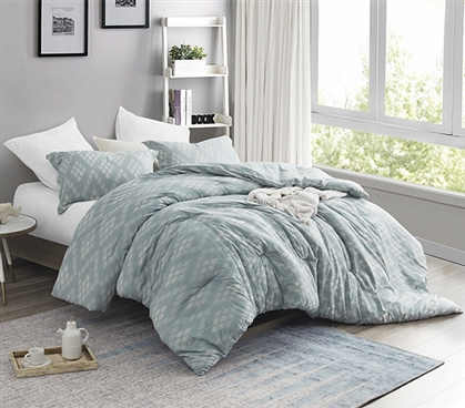 Argyle Moda - Twin XL Comforter - 100% Cotton Bedding