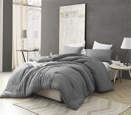 Croscutt - Cavern Gray - Twin XL Comforter - 100% Cotton Bedding