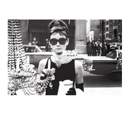 Great Wall Decor - Audrey Hepburn Shades Poster - Black and White Poster