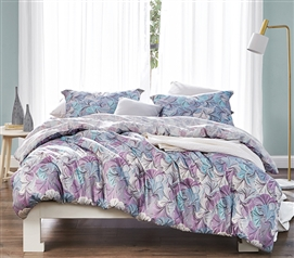 Extra Long Twin Comforter Set Carnival Rio Dorm Bedding Essentials with Unique Colorful Pattern