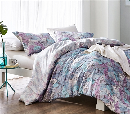Best Dorm Duvet Cover for Oversized College Comforter Carnival Rio Multicolor Twin XL Bedding Set