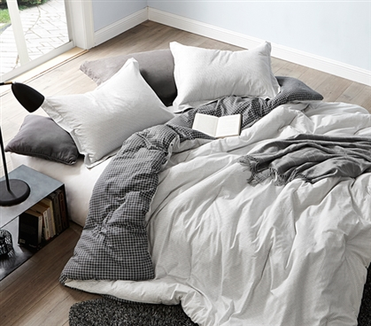 Contrarian - Black and White - Twin XL Comforter - 100% Cotton Bedding