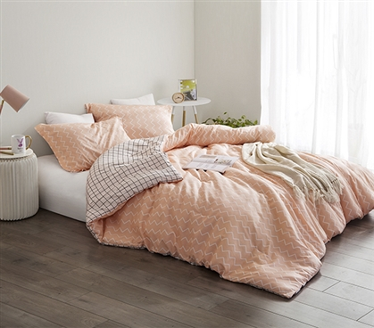 Most Comfortable Extra Long Twin Comforter Designer Just Peachy Soft Cotton Dorm Bedding