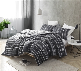 Trinity - Black and White - Twin XL Comforter - 100% Cotton Bedding