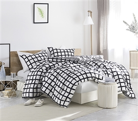 Chroma - Black and White - Twin XL Comforter - 100% Cotton Bedding