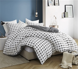 Moda - Black and White - Twin XL Duvet Cover - 100% Cotton Bedding