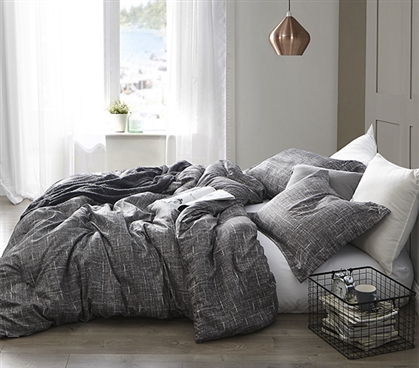 Gray Lightening - Twin XL Comforter - Supersoft Microfiber Bedding