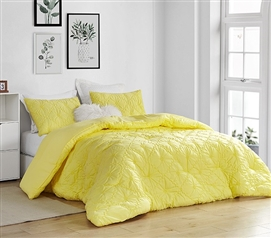 Farmhouse Morning Textured Bedding - Twin XL Comforter - Limelight Yellow