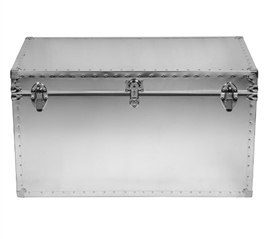 Durable College Trunk for Dorm Room USA Made Fit Everything Steel College Trunk Smooth or Embossed Construction