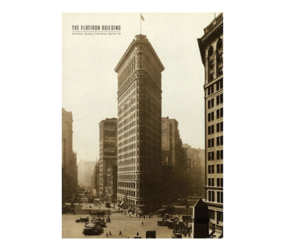 College Poster New York City Flatiron Building Cheap