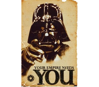 Great Theme - Star Wars - Your Empire Poster - Perfect For Dorm Decorating