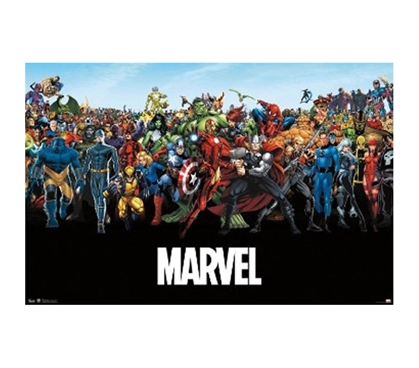 Marvel The Lineup Poster College Supplies Dorm Shopping