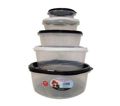 Dorm Essential - 5 Piece College Food Container - Easy Storage