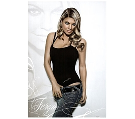 Fergie Posing in Jeans Music Poster College Wall Art