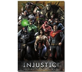 Decorate Dorm Walls - Injustice - Gods Among Us - College Decor Essentials
