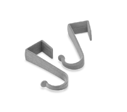 Dorm Over The Door Hooks - Gray Dorm Room Storage Dorm Organizer