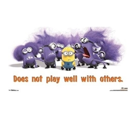 Decorate Your Dorm Room - Despicable Me 2 Evil Minions Poster - Cute College Posters
