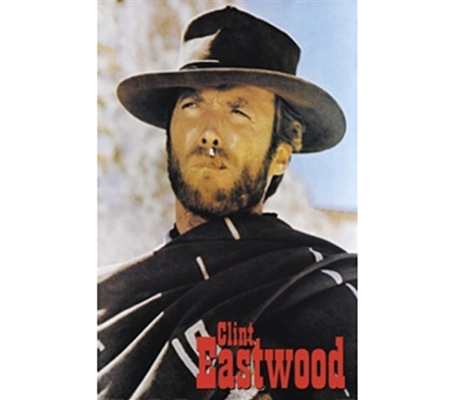 Forever Famous Cowboy - Clint Eastwood College Poster