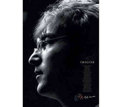 John Lennon Imagine Poster cool John Lennon artistic dorm room college wall art photograph decorative poster