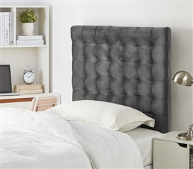 Mo' Tufted College Headboard - Plush Velvet Gray