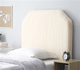 Mo' Bunny Love College Headboard - Plush Chunky Jet Stream