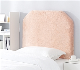 Mo' Cashmere College Headboard - Plush Elite Peach Rose Quartz