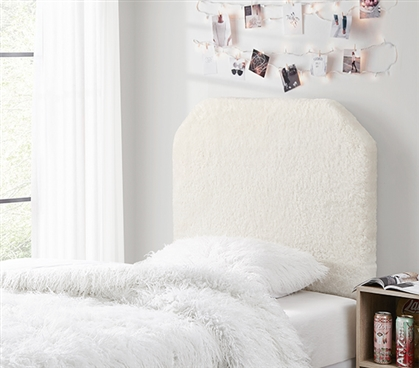 Mo' Cashmere College Headboard - Plush Elite White