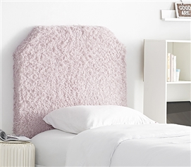 Mo' Fluffy Feathers College Headboard - Plush Texture Light Purple