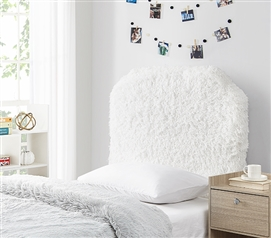 Mo' Fluffy Feathers College Headboard - Plush Texture White
