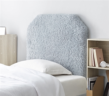 Stylish College Headboard Made with Thick Plush Material Mo' Frizzle Alloy Gray Twin XL Bedding Essential