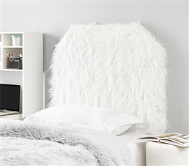 Mo' Unruly Plush College Headboard - White