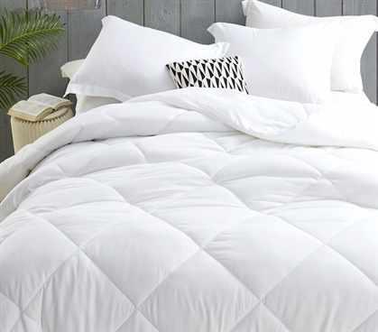 "Comfortable College Bedding Essentials Polyester Fill Down Alternative Duvet Insert Twin XL Size 65"" x 90"" Ultra Cozy"