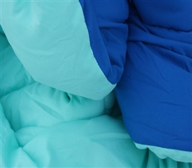Minty Aqua/Pacific Blue Reversible College Comforter - Twin XL