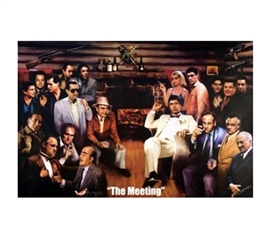 Funny Dorm Decor - The Meeting Gangsters Poster - Decorate Your Dorm Room